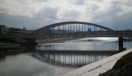 狩野川・あゆみ橋(沼津市大手町4丁目)(2012年1月29日)