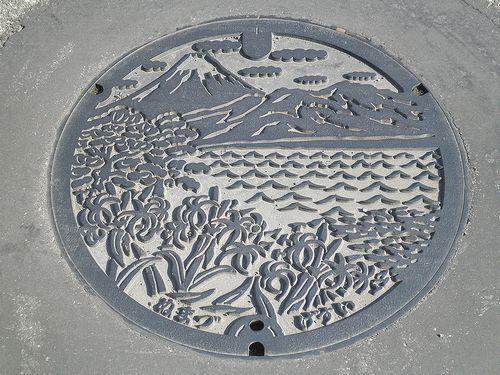 沼津市マンホールの蓋(2012年1月29日)
