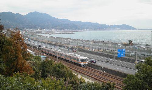 薩埵峠(東海道本線由比~興津間)(2014年3月9日)