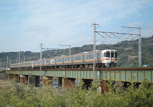 興津川橋梁(東海道本線由比~興津間)(2014年3月9日)