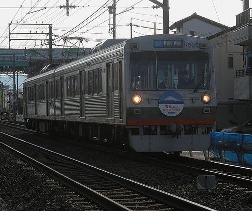 静岡鉄道1505+1005(草薙~県立美術館前間)(2014年3月9日)