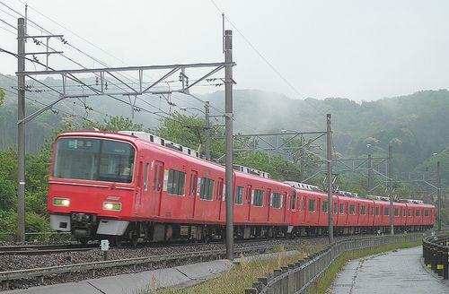 名古屋鉄道3100系+3700系(2014年5月5日・名電長沢~本宿間)