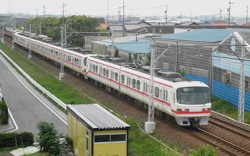 名古屋鉄道1000系・1200系+1800系(2014年5月5日・小田渕~国府間)