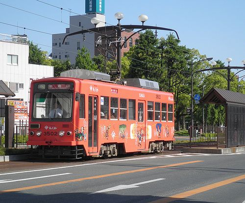 豊橋鉄道モ3502(2014年5月4日・札木電停)