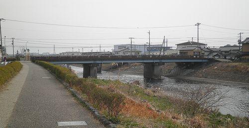 旧東海道・潤井川・富安橋(静岡県富士市高島町~蓼原町)(2012年2月22日)