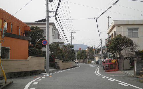 旧東海道・柚木(静岡県富士市柚木)(2012年2月22日)