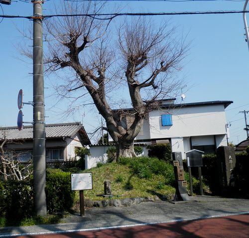 旧東海道岩淵宿・岩淵一里塚(静岡県富士市岩淵)(2014年3月16日)