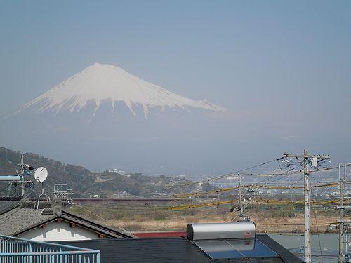 旧東海道岩淵宿から見た富士山(静岡県富士市岩淵)(2014年3月16日)