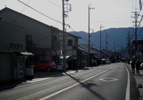 旧東海道・蒲原宿~由比宿間(静岡市清水区蒲原中)(2014年3月8日)