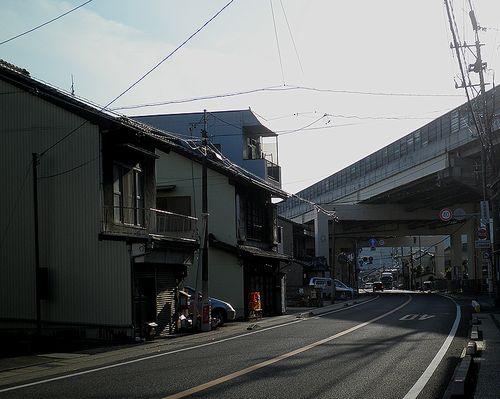 旧東海道・蒲原宿~由比宿間(静岡市清水区蒲原神沢)(2014年3月8日)