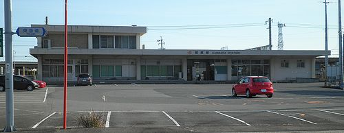東海道本線・蒲原駅(静岡市清水区蒲原堰沢)(2014年3月8日)