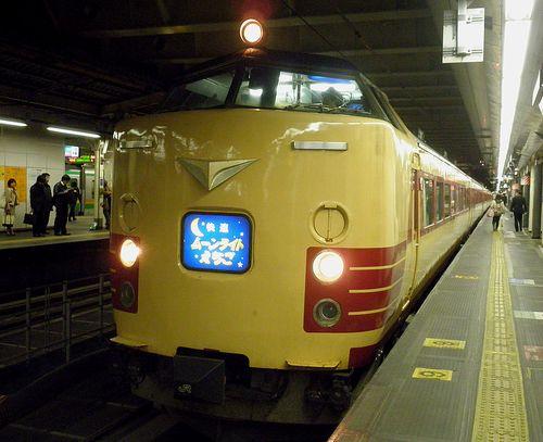 新ニイ485系「ムーンライトえちご」(2012年3月21日・新宿駅)