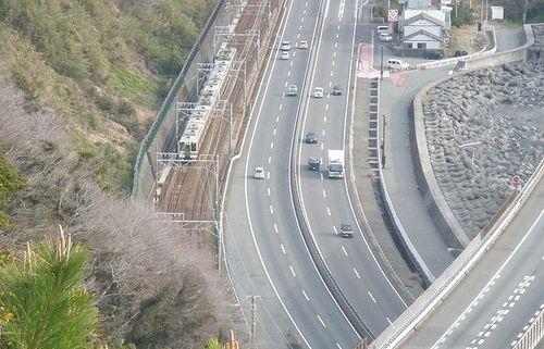薩埵峠から見た展望(静岡市清水区由比西倉沢)(2014年3月9日)2