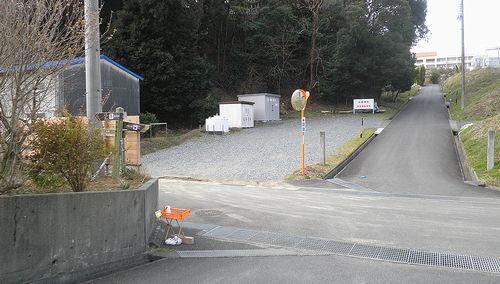 薩埵峠西口の十字路(静岡市清水区興津東町)(2014年3月9日)1