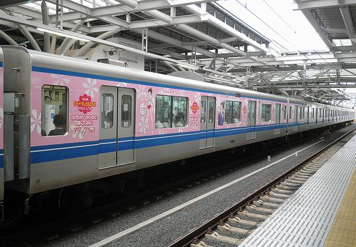 西武鉄道20000系・20151F「埼玉版ウーマノミクスプロジェクト」広告電車(2014年6月5日・石神井公園駅)2