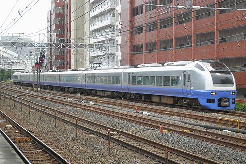 水カツE653系「K308」編成・急行「ぶらり鎌倉号」(2014年6月22日・横浜~保土ヶ谷間)1