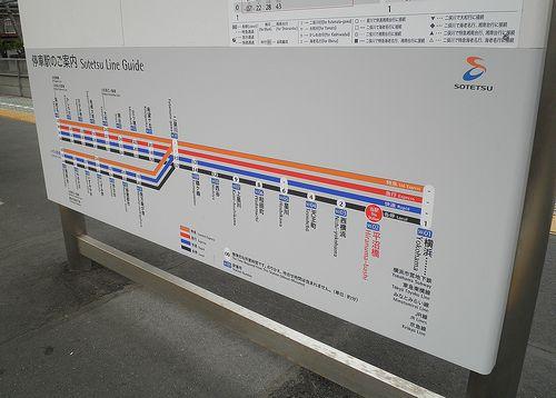 相模鉄道停車駅案内(2014年6月22日・平沼橋駅)
