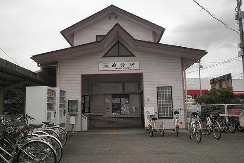 近鉄内部線・追分駅(三重県四日市市追分)(2014年6月28日)