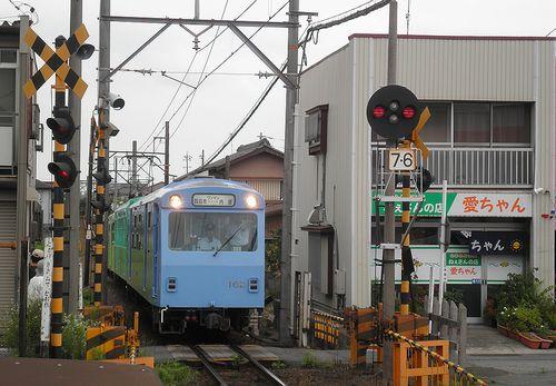 近鉄内部・八王子線ク162+サ122+モ262(2014年6月28日・追分駅)