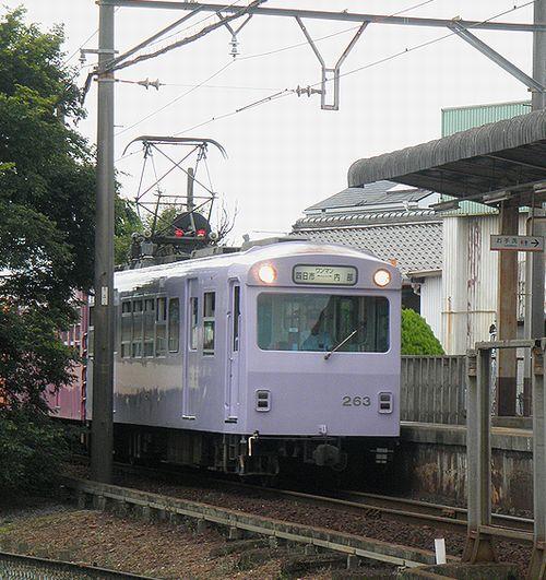 近鉄内部・八王子線モ263+サ123+ク163(2014年6月28日・追分駅)