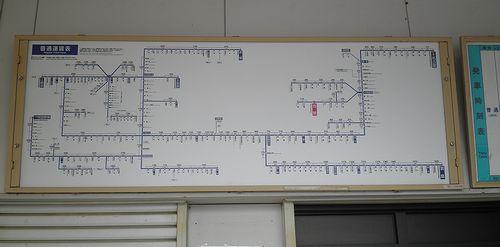 近鉄内部線・追分駅・運賃表(2014年6月28日)