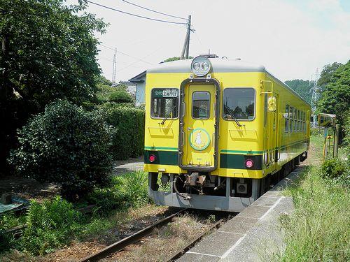 いすみ鉄道いすみ352(2014年7月29日・西大原駅)
