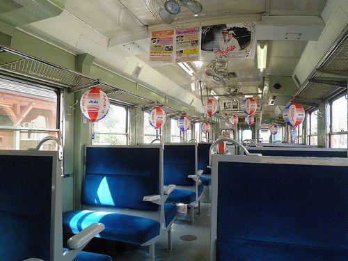 いすみ鉄道キハ52 125車内(2014年7月29日・大多喜駅)