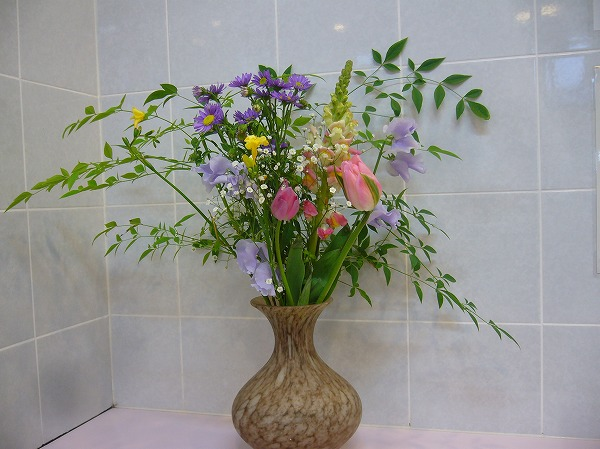 福山のトイレにお花 26.3.7