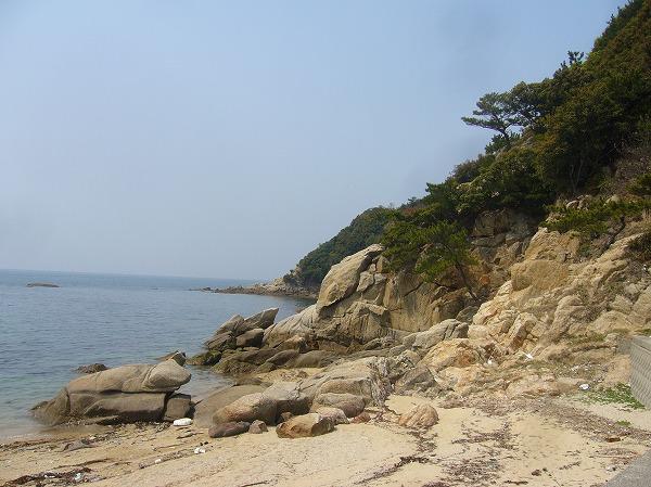 仁老浜海に向かって右側 26.4.10