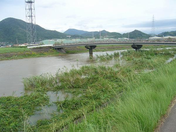 台風11号通過中の高瀬川 26.8.10