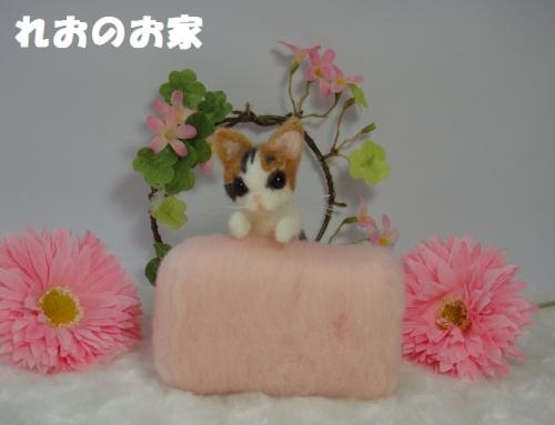 ソファ三毛猫1