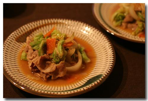 肉野菜炒めに 味噌だれ