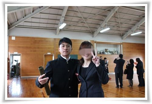 20140313たっくん卒業ツーショット