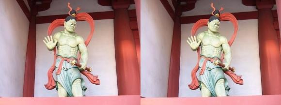 四天王寺 東大門 吽形仁王像(平行法)