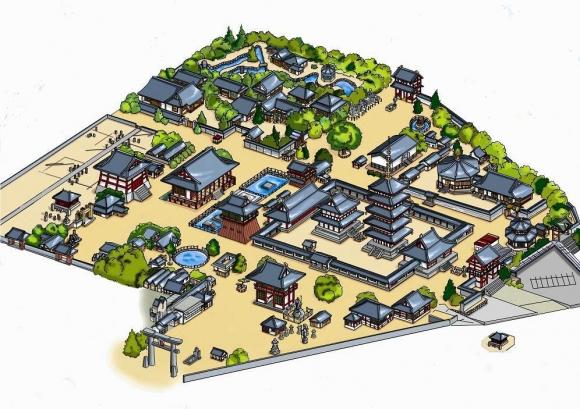 四天王寺境内鳥瞰図