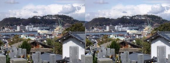 重楽寺からの千光寺山(平行法)
