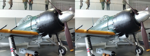 大和ミュージアム 零式艦上戦闘機六二型①(平行法)