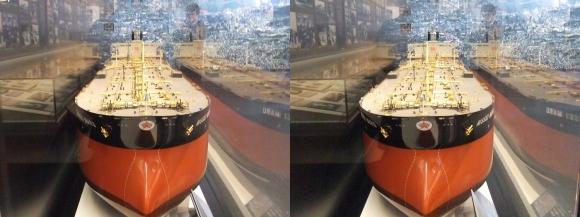 大和ミュージアム 巨大タンカー 日精丸模型(平行法)