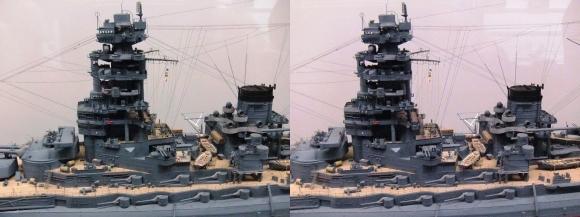 大和ミュージアム 戦艦長門模型②(平行法)