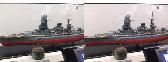 大和ミュージアム 戦艦長門模型①(平行法)