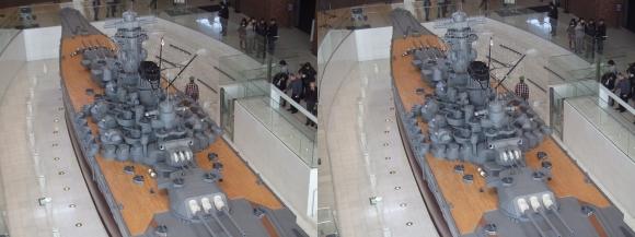 大和ミュージアム 戦艦大和復元模型⑰(平行法)