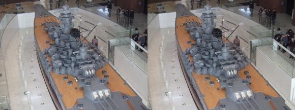 大和ミュージアム 戦艦大和復元模型⑰(交差法)