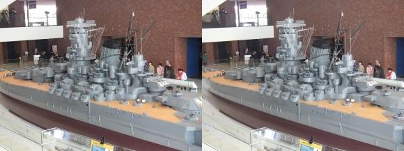 大和ミュージアム 戦艦大和復元模型⑯(平行法)