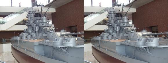 大和ミュージアム 戦艦大和復元模型⑮(交差法)
