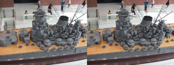 大和ミュージアム 戦艦大和復元模型⑭(交差法)