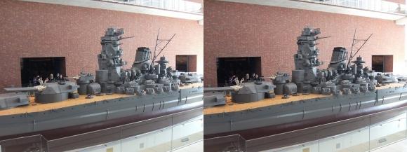 大和ミュージアム 戦艦大和復元模型⑬(交差法)