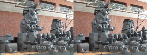 大和ミュージアム 戦艦大和復元模型⑫(交差法)