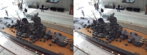 大和ミュージアム 戦艦大和復元模型⑨(平行法)