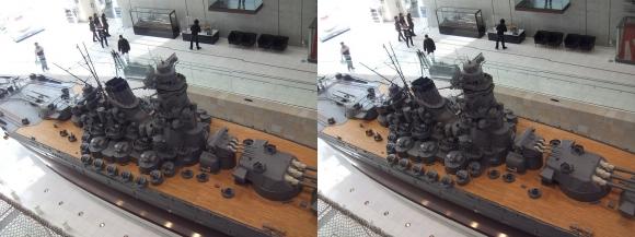 大和ミュージアム 戦艦大和復元模型⑨(交差法)
