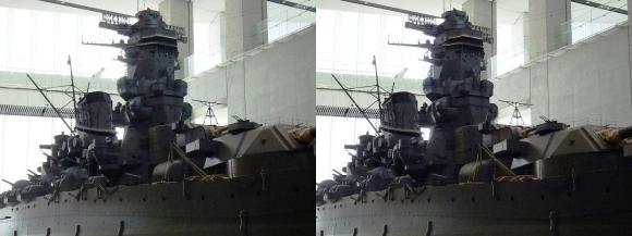 大和ミュージアム 戦艦大和復元模型⑦(交差法)